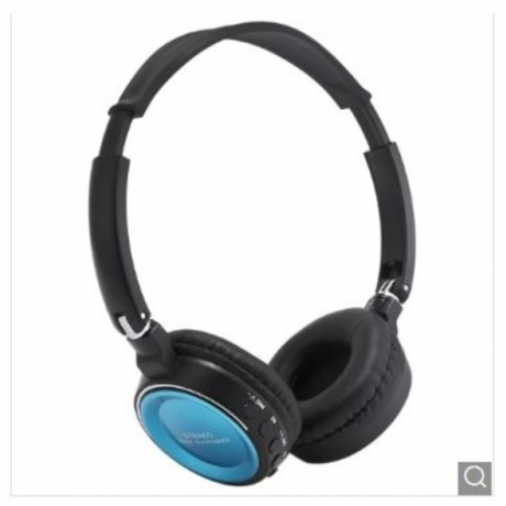 BT - 823 Bluetooth Support TF Card Headphone - Blue