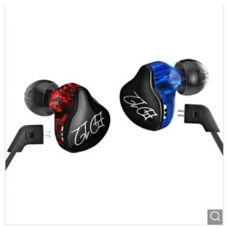 KZ ED12 HiFi Music In Ear Earphones with Mic - Blue and Red