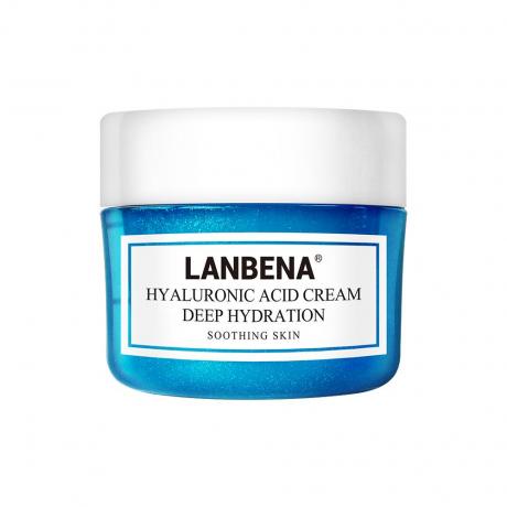 LANBENA HYALURONIC ACID FACE CREAM SERUM DEEPLY MOISTURIZING SOOTHING SKIN SHRINKING PORES ANTI AGING WHITENING SKIN CARE 40G