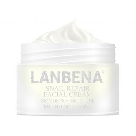 LANBENA SNAIL REPAIR WHITENING FACIAL CREAM DAY CREAM ANTI WRINKLE ANTI AGING ACNE TREATMENT MOISTURIZING FIRMING SKIN CARE 30G