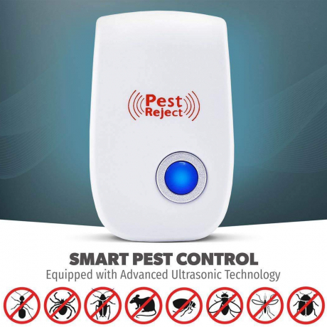 Pest Repeller Ultrasonic Pest Control Repellent Reject Plug In for Insects, Spiders, Mice, Roaches, Bugs, Fleas, Ants and Mosqui