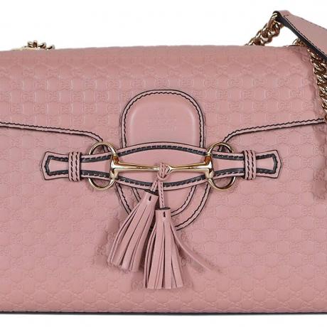 Gucci Women's Micro GG Guccissima Leather Emily Purse Handbag (449635/Soft Pink)