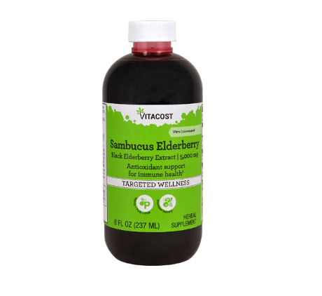 Vitacost Sambucus Elderberry Ultra-Concentrated Black Elderberry Extract Syrup -- 5000 mg - 8 fl oz