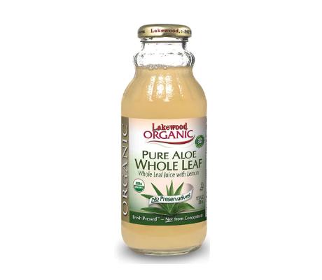 Lakewood Organic Pure Aloe Juice Fresh Pressed Whole Leaf -- 12.5 fl oz