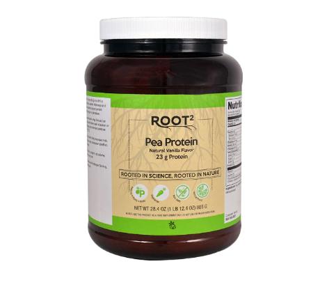 Vitacost ROOT2 Pea Protein - Non-GMO and Gluten Free Natural Vanilla -- 28.4 oz (1 lb 12.4 oz) 805 g