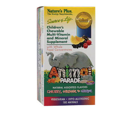 Nature's Plus Animal Parade® Children's Chewable Multi-Vitamin and Mineral Assorted -- 180 Chewable