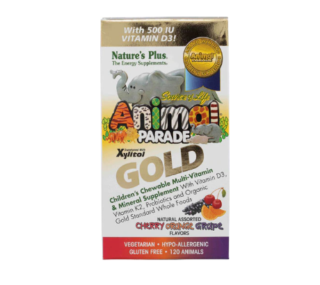 Nature's Plus Animal Parade® Gold Children's Chewable Multi-Vitamin and Mineral Assorted -- 120 Chewables