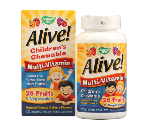 Nature's Way Alive!® Children's Chewable Multi-Vitamin Orange and Berry -- 120 Chewable Tablets