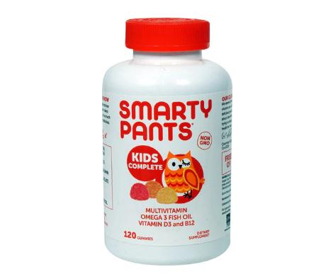 SmartyPants Kids Complete Multivitamin Omega 3 Fish Oil Vitamin D3 and B12 -- 120 Gummies
