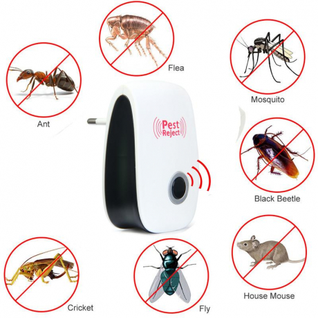 Ultrasonic Pest Reject Repeller Control Electronic Trap Pest Reject Repellent Mouse Rodent Cockroach Mosquito Insect Killer