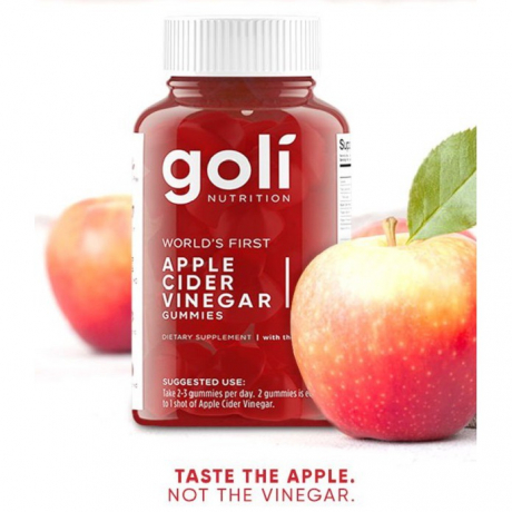 Goli Apple Cider Vinegar Gummies *1 Month Supply* With The Mother ACV - Vegan