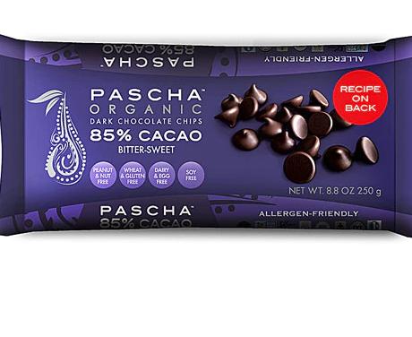 Pascha Organic Dark Chocolate Chips 85% Cacao Bittersweet Chocolate -- 8.8 oz