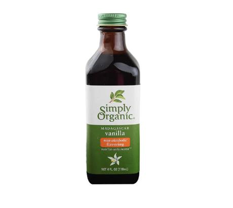 Simply Organic Madagascar Vanilla Flavoring Non-Alcohol -- 4 fl oz