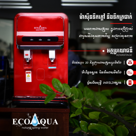 ម៉ាស៊ីនចម្រោះទឹក ក្តៅ ត្រជាក់ EcoAqua DWP-800T