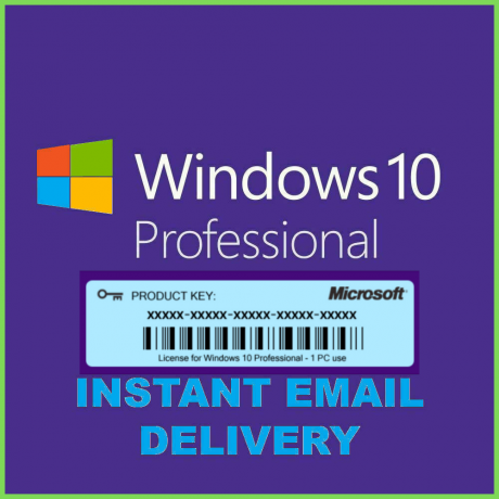 Microsoft Windows 10 Pro Key 32/ 64-bit Genuine License Code