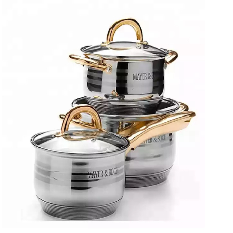 kitchen gadgets 12 pc cookware set stainless steel cooking pot