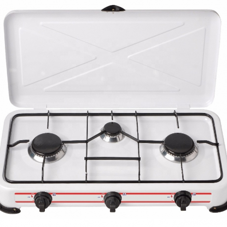 Three Burner Portable Camping Table Gas Stove With CE