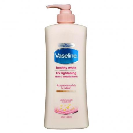 ឡេ លាបខ្លួន Vaseline Lotion Healthy White UV Lightening 400ml