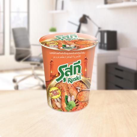 មីកំប៉ុង រ៉ូស្គី Ruski Cup Shrimp Creamy