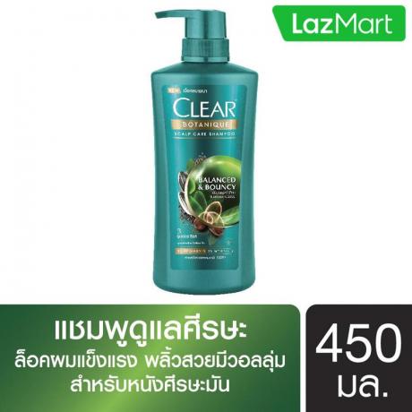 សាប៊ូកក់សក់ក្លៀ បៃតង Clear SH Botanique Balanced 450ml