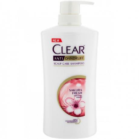 សាប៊ូកក់សក់ក្លៀរ សាគូរ៉ា ឈូក Clear SH Sakura Fresh Carat 480ml