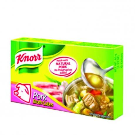 ដុំស៊ុបខ្នរ រសជាតិសាច់ជ្រូក Knor Cube Pork (New) 20g