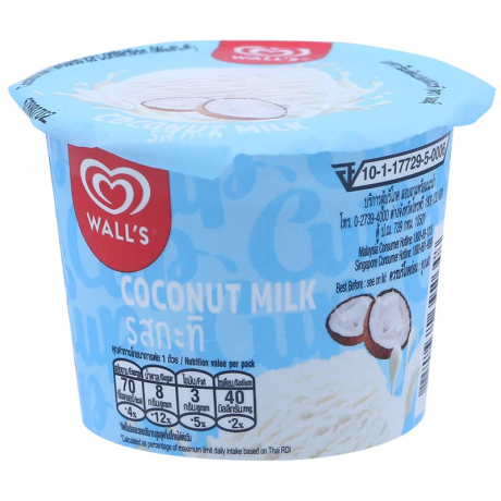 WALL'S CUP COCONUT  24X53G