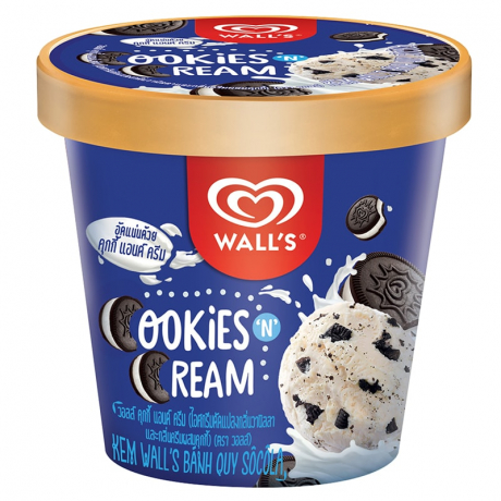 WALL'S TUB COOKIE AND CREAM  4X240G