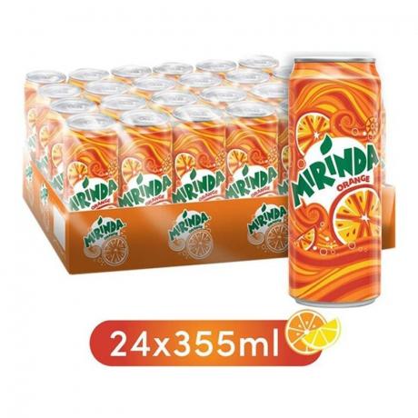 ម៉ារីនដាកំប៉ុង Mirinda Orange 355ml x24c