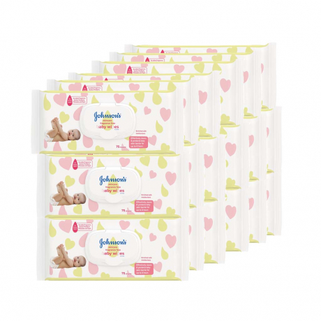 កននែងលសើម Johnson Baby skincare wipes pragrance free