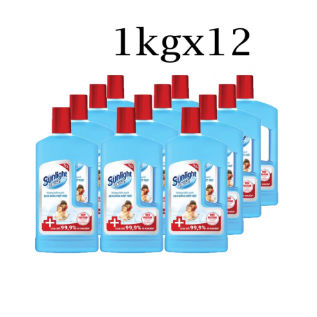 ទឹកសំអាតឥតការ៉ូ Sunlight FLR Antibacteria BTL 1kgx12
