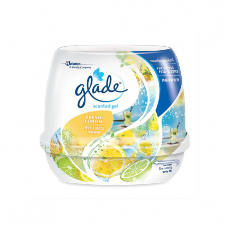 glade scented gel fresh lemon 180g
