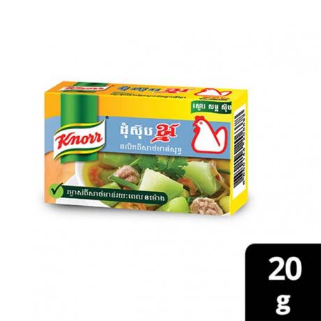 ដុំស៊ុបខ្នរ រសជាតិសាច់មាន់ ម្ហូបទឹក Knorr Cube CH 20g