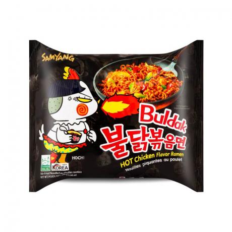 មីហឹល ប៊ូលដាក់រស់ជាតិសាច់មាន់ Samyang Hot Chicken Flavor Ramen