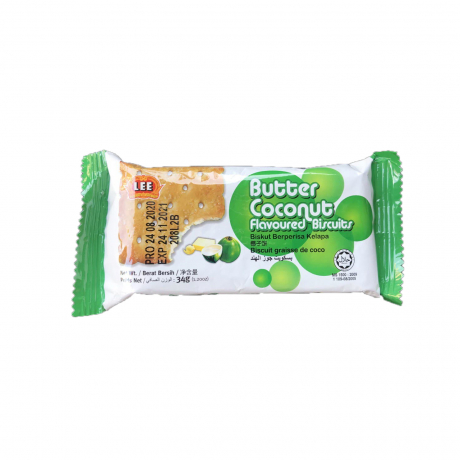 Butter coconut flavored biscuits 34g