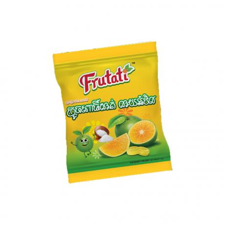 Frutati ស្ករគ្រាប់រសជាតិ ក្រូចពោធិ៍សាត់ លាយអំបិល