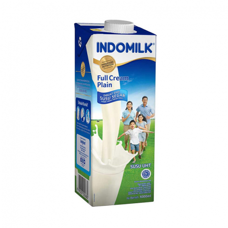 ទឹកដោះគោ Indomilk Full cream plain