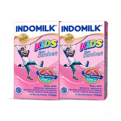 Indomilk Kids Strawberry flavored x4