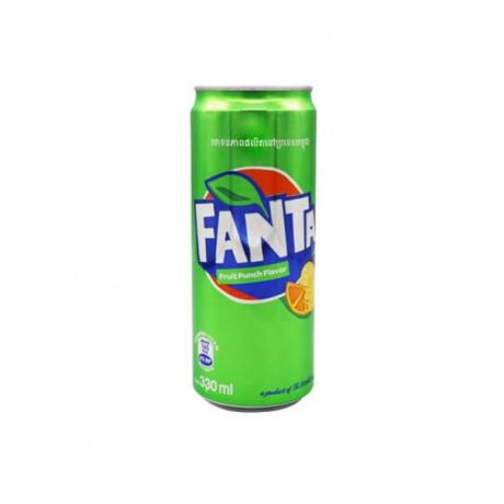 ទឹកក្រូចហ្វាន់តាបៃតង Fanta Fruit Punch 330ml