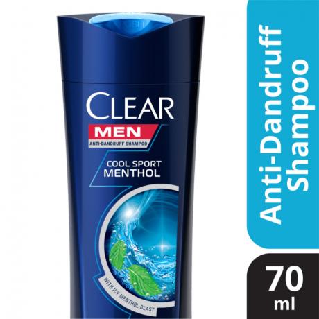 សាប៊ូកក់សក់ក្លៀរបុរស ខៀវ Clear Men Cool Menthol 70ml