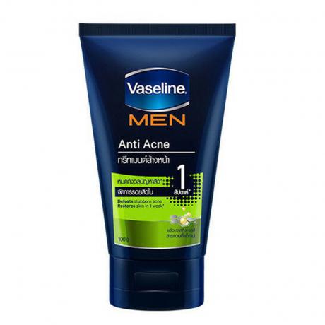 សាប៊ូលាងមុខ វ៉ាសាលីន បុរស Vaseline Men Facial Foam Acne 100g