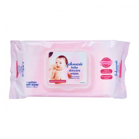 កន្សែងសើម Johnson Baby skincare wipes pragrance free 75s(AN)