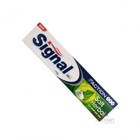 ថ្នាំដុសធ្មេញ សីងនល Signal Toothpaste Herbal Salt 175g