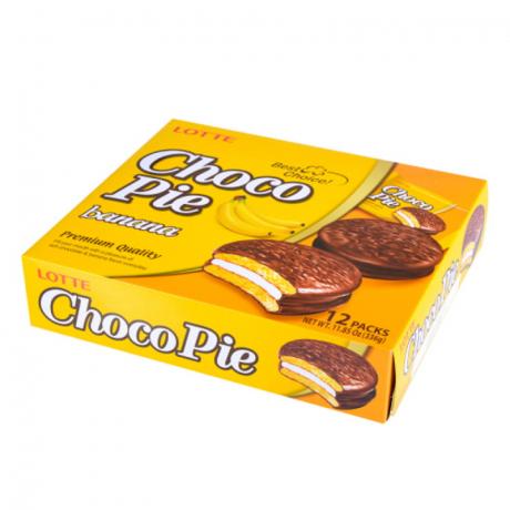នំ ឆូកូ រសជាតិ ចេក CHOCO PIE -Banana 12 packs