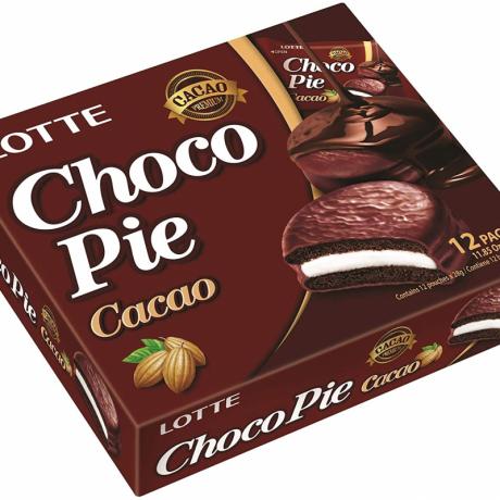 នំ ឆូកូ រសជាតិ សូកូឡា CHOCO PIE -Cacao 12 packs