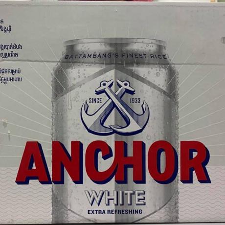 ស្រាបៀអាន់ឆ័រ(ស) 24កំប៉ុង Anchor WHITE Beer