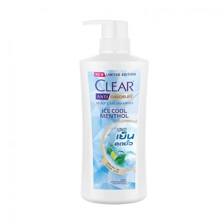 សាប៊ូកក់សក់ក្លៀរ ពណ៌ខៀវ Clear SH Ice Cool Menthol 480ml
