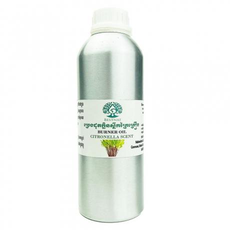 ប្រេងដុតក្លិនស្លឹកគ្រៃគ្គ្រឿង 500ml / Burner Oil Citronella Scent 500ml