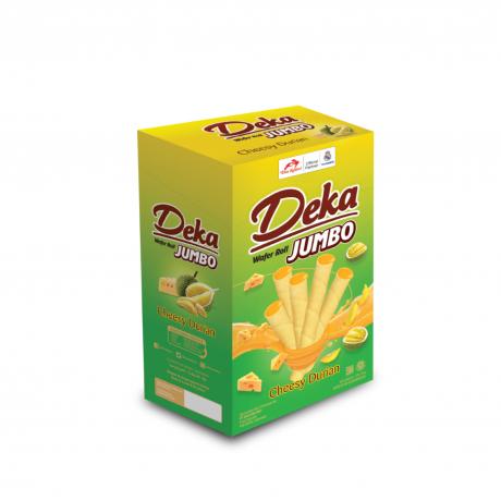 Deka Jumbo Cheese & Durian 12Boxes * 20Sticks * 16g