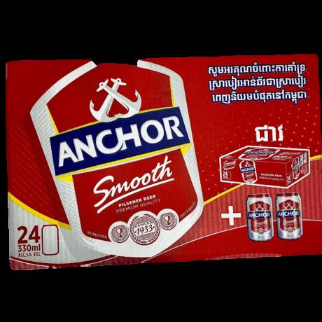 ស្រាបៀអាន់ឆ័រ24កំប៉ុង Anchor Beer(អត់រង្វាន់)